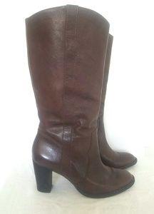 KORS Michael Kors Brown Leather Boots 8.5 EUC